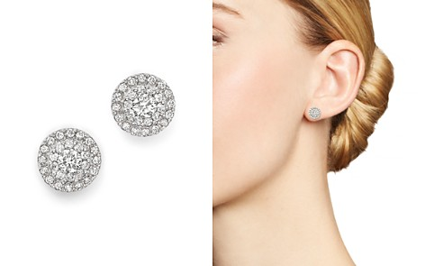 Diamond Halo Stud Earrings in 14K White Gold, 0.75 ct. t.w. - Bloomingdale's_2