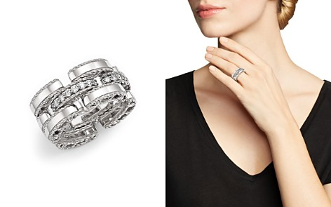 Roberto Coin 18K White Gold Retro Diamond Ring - Bloomingdale's_2