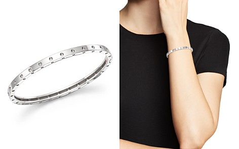 Roberto Coin 18K White Gold Symphony Dotted Bangle Bracelet - Bloomingdale's_2