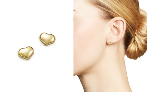 Roberto Coin 18k Small Yellow Gold Heart Earrings Bloomingdale S 2