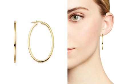 Roberto Coin 18K Yellow Gold Oval Hoop Earrings - Bloomingdale's_2