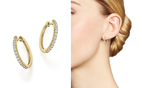 Diamond Hoop Earrings in 14K Yellow Gold, .40 ct. t.w. - Bloomingdale's_2