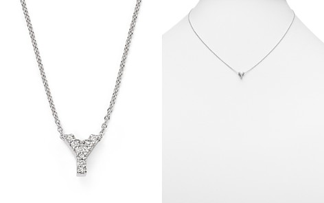 Y necklaces bloomingdales roberto coin 18k white gold initial love letter pendant necklace with diamonds 162 aloadofball Gallery