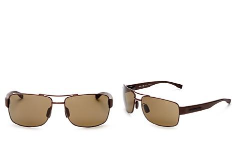 HUGO BOSS Metal Wrap Rectangle Sunglasses, 63mm - Bloomingdale's_2