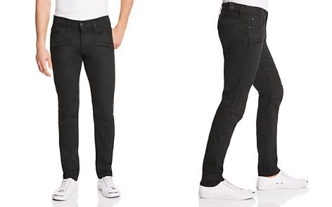 Hudson Blinder Biker Super Slim Fit Jeans in Raw Black - Bloomingdale's_2