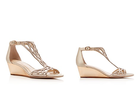 Imagine VINCE CAMUTO Jalen Metallic Rhinestone Cutout Wedge Sandals - Bloomingdale's_2