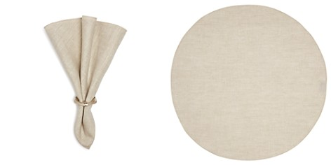 Mode Living Pure Linen Round Napkins, Set of 4 - Bloomingdale's_2
