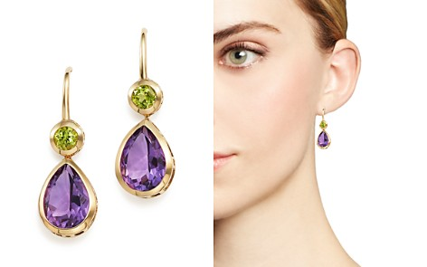 Amethyst and Peridot Drop Earrings in 14K Yellow Gold - 100% Exclusive - Bloomingdale's_2