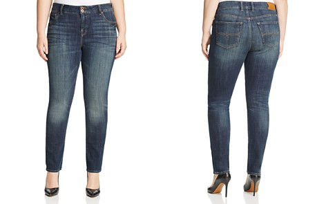 Lucky Brand Plus Emma Faded Straight Leg Jeans in Tiburon - Bloomingdale's_2