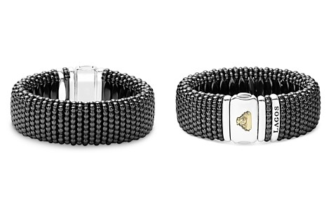 LAGOS Black Caviar Ceramic 18K Gold and Sterling Silver Statement Bracelet - Bloomingdale's_2