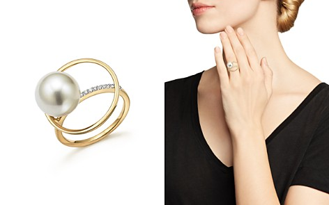 MATEO 14K Yellow Gold Pearl Orbit Ring with Diamonds - Bloomingdale's_2