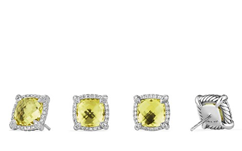 David Yurman Châtelaine Pavé Bezel Stud Earrings with Lemon Citrine and Diamonds - Bloomingdale's_2