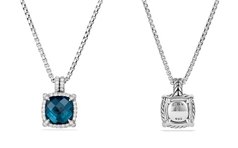 David Yurman Châtelaine Pavé Bezel Pendant Necklace with Hampton Blue Topaz and Diamonds - Bloomingdale's_2