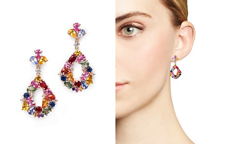 Multi Sapphire Drop Earrings with Diamonds in 14K Rose Gold - 100% Exclusive - Bloomingdale's_2
