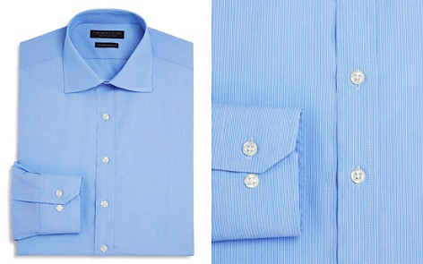 The Men's Store at Bloomingdale's Fine Line Stripe Regular Fit Basic Dress Shirt - 100% Exclusive_2