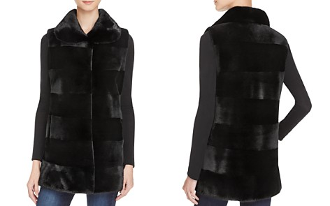 Maximilian Furs Sheared Saga Mink Fur Vest - 100% Exclusive - Bloomingdale's_2