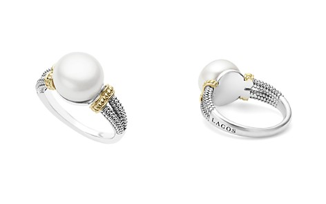LAGOS 18K Gold and Sterling Silver Luna Ring with Cultured Freshwater Pearl - Bloomingdale's_2