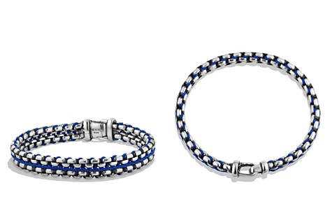 David Yurman Woven Box Chain Bracelet in Blue - Bloomingdale's_2