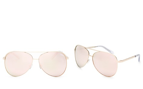 Quay Vivienne Mirrored Aviator Sunglasses, 65mm - Bloomingdale's_2