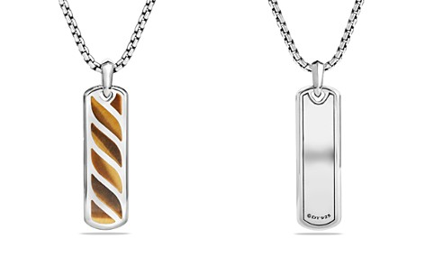 David Yurman Graphic Cable Ingot Tag with Tiger's Eye - Bloomingdale's_2