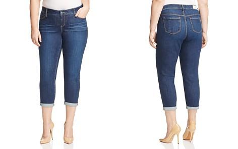 SLINK Jeans Amber Boyfriend Roll-Cuff Jeans in Dark Blue - Bloomingdale's_2