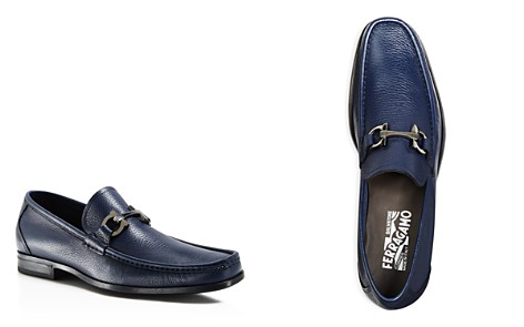 Salvatore Ferragamo Men's Grandioso Calfskin Leather Loafers with Double Gancini Bit - 100% Exclusive - Bloomingdale's_2