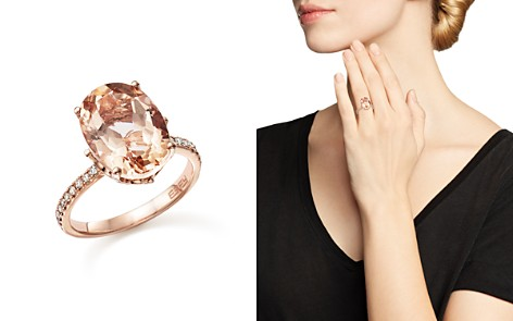 Morganite Oval and Diamond Statement Ring in 14K Rose Gold - 100% Exclusive - Bloomingdale's_2