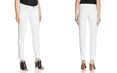 PAIGE Skyline Skinny Ankle Maternity Jeans in Optic White - Bloomingdale's_2