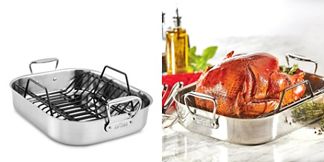 All-Clad Gourmet Accessories Large Roaster with Rack - Bloomingdale's_2