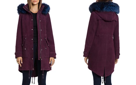 BAGATELLE.CITY Hooded Suede Parka with Fur Trim - Bloomingdale's_2