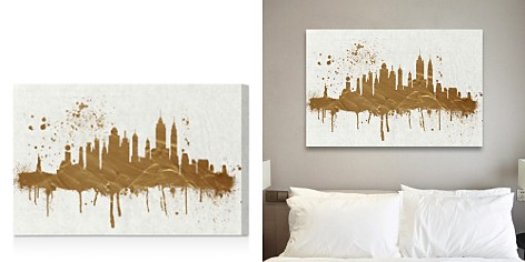 Oliver Gal Gold NY Skyline Wall Art - Bloomingdale's_2