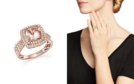 Morganite Statement Ring with Diamonds in 14K Rose Gold - 100% Exclusive - Bloomingdale's_2