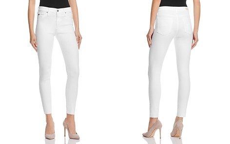 AG Farrah Skinny High-Rise Ankle Jeans in White - Bloomingdale's_2