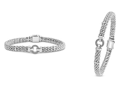 LAGOS Sterling Silver Caviar Bracelet with Open Circle - Bloomingdale's_2