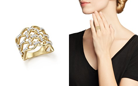 Diamond Micro-Pavé Lattice Ring in 14K Yellow Gold, 0.50 ct. t.w. - 100% Exclusive - Bloomingdale's_2