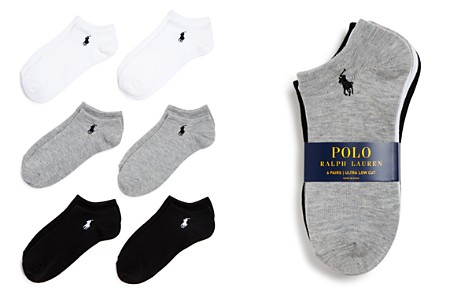 Polo Ralph Lauren Flat Knit Ultra Low Socks, Set of 6 - Bloomingdale's_2