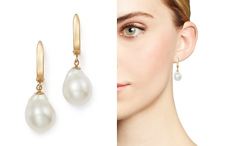 Baroque Cultured Freshwater Pearl Earrings in 14K Yellow Gold - 100% Exclusive - Bloomingdale's_2