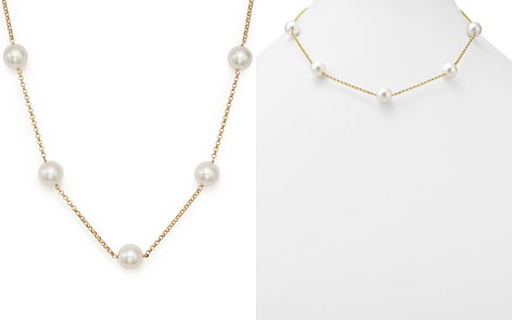 """Cultured South Sea Pearl Tin Cup Necklace on 14K Yellow Gold, 18"""" - 100% Exclusive - Bloomingdale's_2"""
