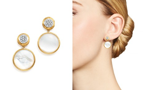 Marco Bicego 18K Yellow Gold Jaipur Mother-Of-Pearl and Diamond Drop Earrings - Bloomingdale's_2
