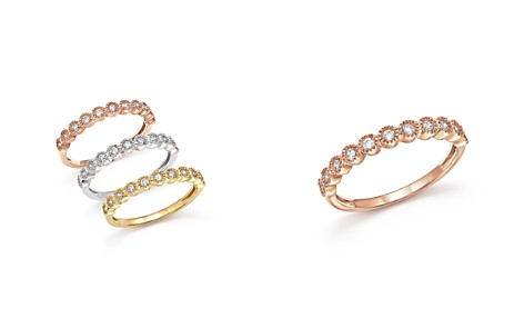 Diamond Milgrain Bezel Stacking Ring in 14K Gold, .25 ct. t.w. - Bloomingdale's_2