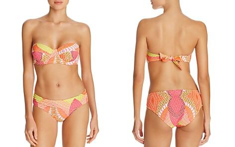Echo Havana Geo Print Underwire Bandeau Bikini Top & Havana Geo Print Ruched Bikini Bottom - Bloomingdale's_2