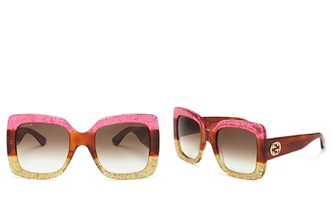 Gucci Oversized Square Sunglasses, 55mm - Bloomingdale's_2