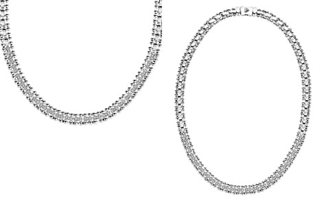 "LAGOS Sterling Silver Caviar Spark Diamond Collar Necklace, 18"" - Bloomingdale's_2"