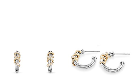 David Yurman Helena Small Hoop Earrings with Diamonds and 18K Gold - Bloomingdale's_2