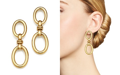 Roberto Coin 18K Yellow Gold Double Oval Earrings - Bloomingdale's_2
