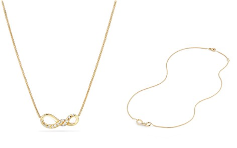 David Yurman Continuance Small Pendant Necklace with Diamonds in 18K Gold - Bloomingdale's_2
