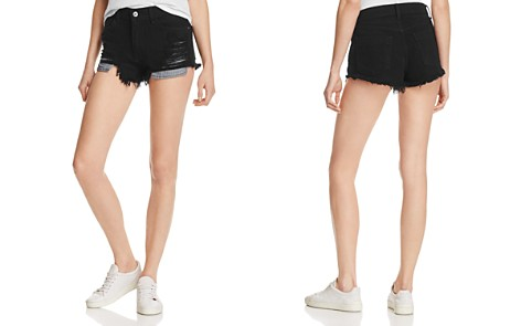 Pistola Nova Distressed Denim Cutoff Shorts in Onyx - Bloomingdale's_2