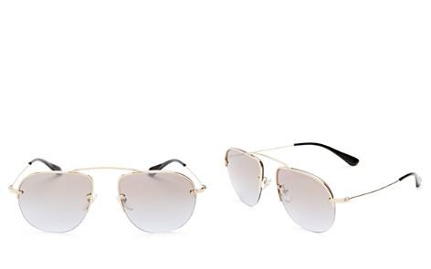 Prada Mirrored Aviator Sunglasses, 57mm - Bloomingdale's_2