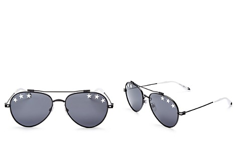 Givenchy Embellished Brow Bar Aviator Sunglasses, 58mm - Bloomingdale's_2