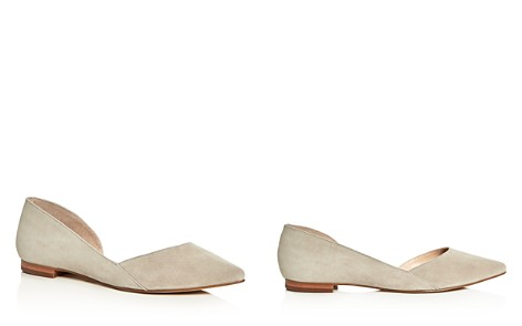 Marc Fisher LTD. Sunny Suede Pointed Toe d'Orsay Flats - Bloomingdale's_2